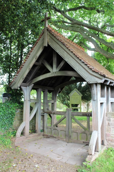 The lytch gate at the church