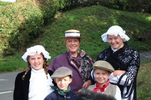 Children in victorian costumes