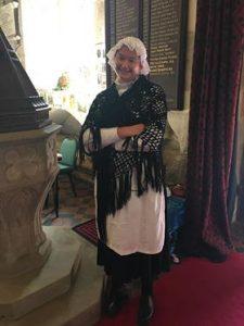 Girl in victorian costume