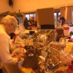 Woman looking at hampers