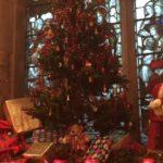 Christmas tree, presents and teddy bear