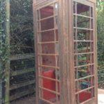 Red phonebox under renovation
