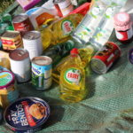 Donations of tinned and dried goods to the Ross larder