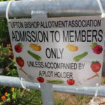 Poster restricting access to the allotments